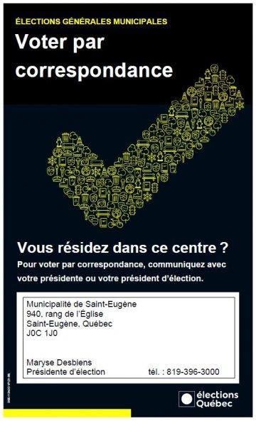 Voter par correspondance